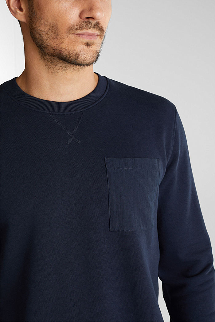 Recycled: Sweatshirt with organic cotton, DARK BLUE, detail image number 2