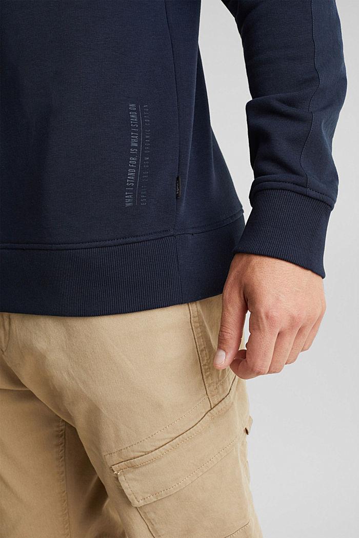 Recycelt: Sweatshirt mit Bio-Baumwolle, DARK BLUE, detail image number 5