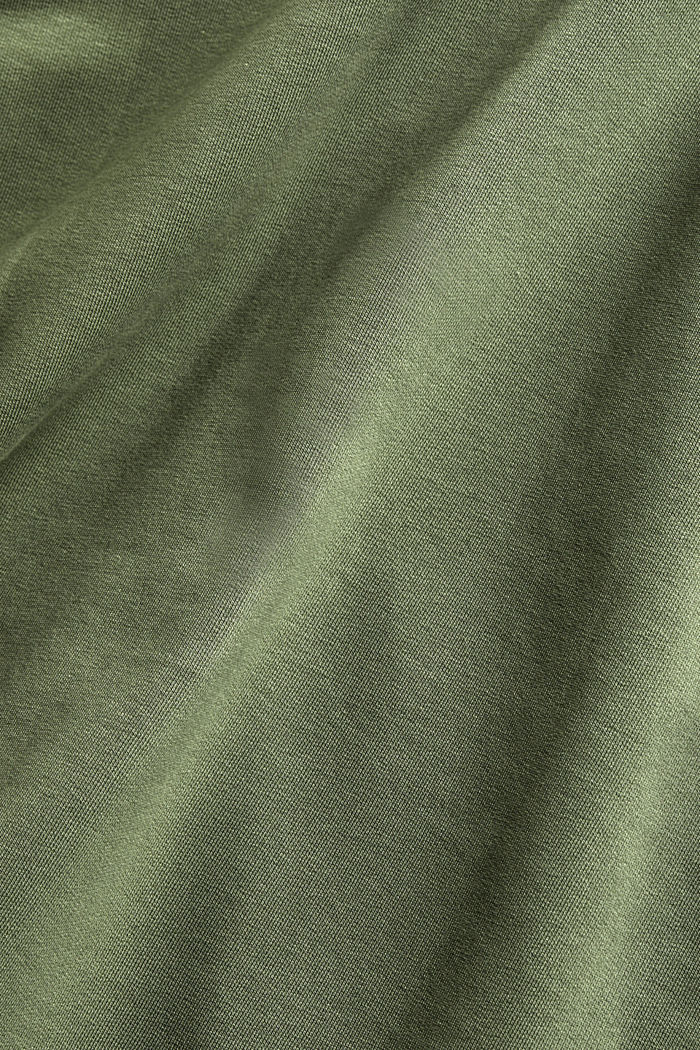 Cárdigan de felpa con algodón ecológico, LIGHT KHAKI, detail image number 5