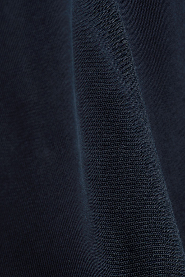 Sweat-Cardigan mit Bio-Baumwolle, NAVY, detail image number 4