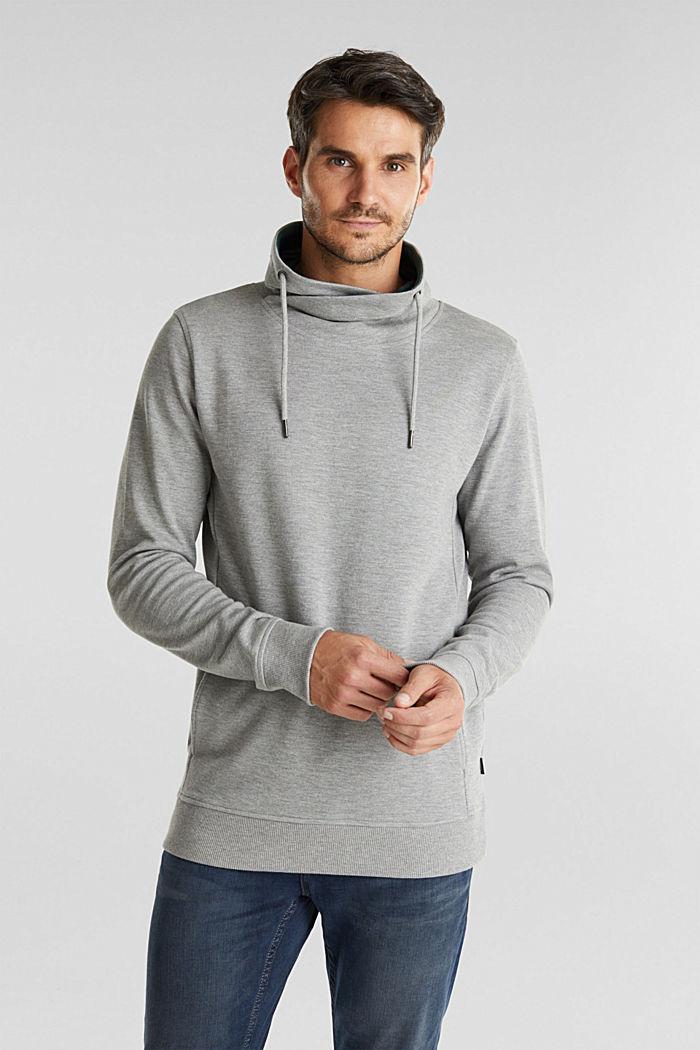 Textured jumper with organic cotton, MEDIUM GREY, detail image number 0