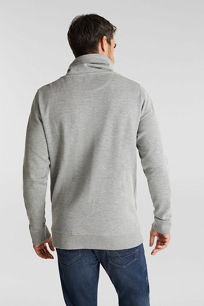 Textured jumper with organic cotton, MEDIUM GREY, detail image number 3
