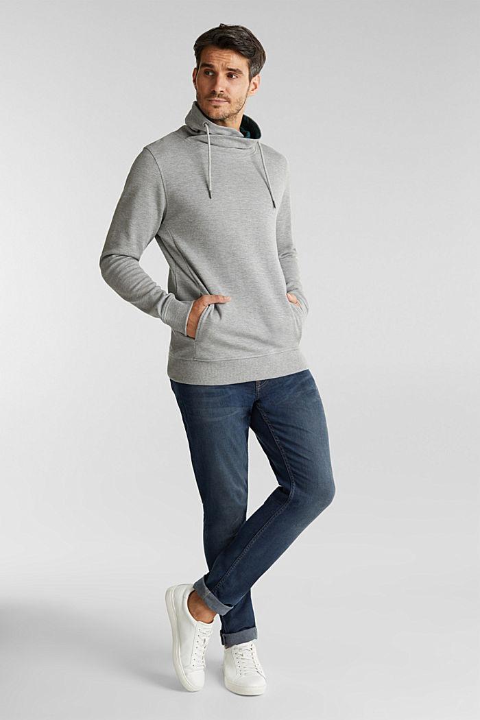 Textured jumper with organic cotton, MEDIUM GREY, detail image number 1