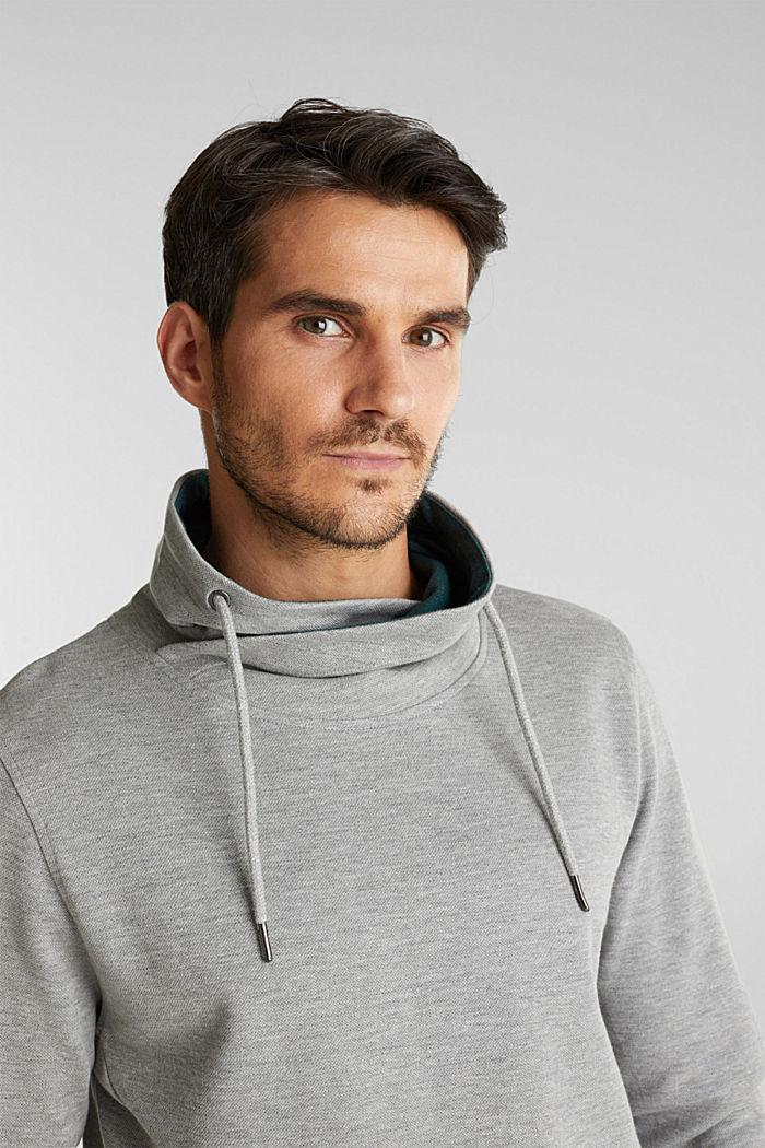 Textured jumper with organic cotton, MEDIUM GREY, detail image number 5