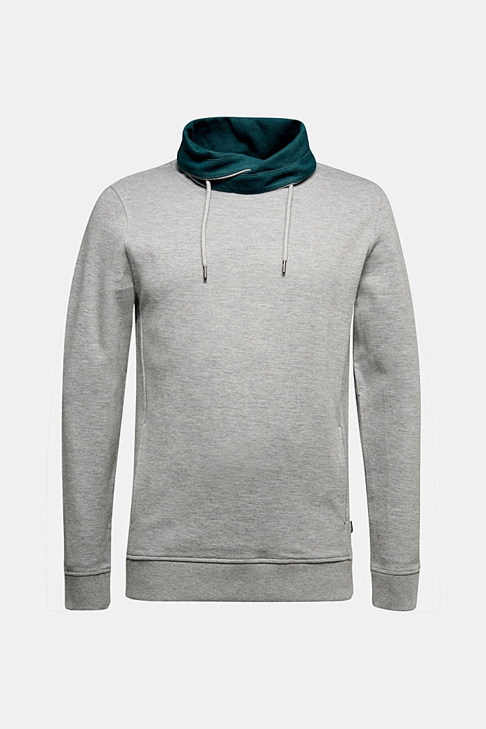 Textured jumper with organic cotton, MEDIUM GREY, detail image number 6