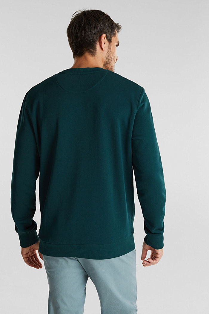 Printed jumper with organic cotton, DARK GREEN, detail image number 3