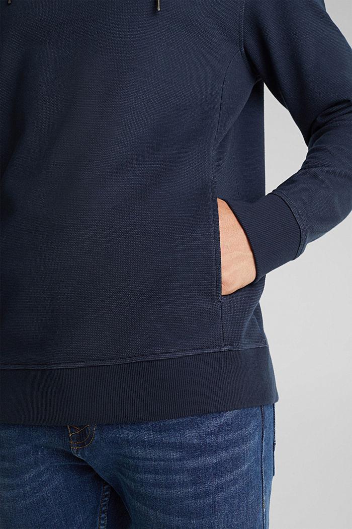 Textured jumper with organic cotton, DARK BLUE, detail image number 4