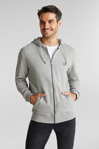 Sweatshirt cardigan with organic cotton