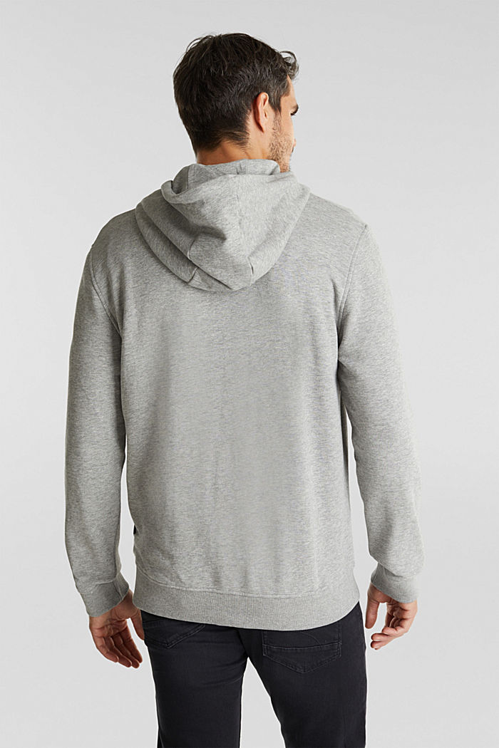 Sweatshirt cardigan with organic cotton, MEDIUM GREY, detail image number 3