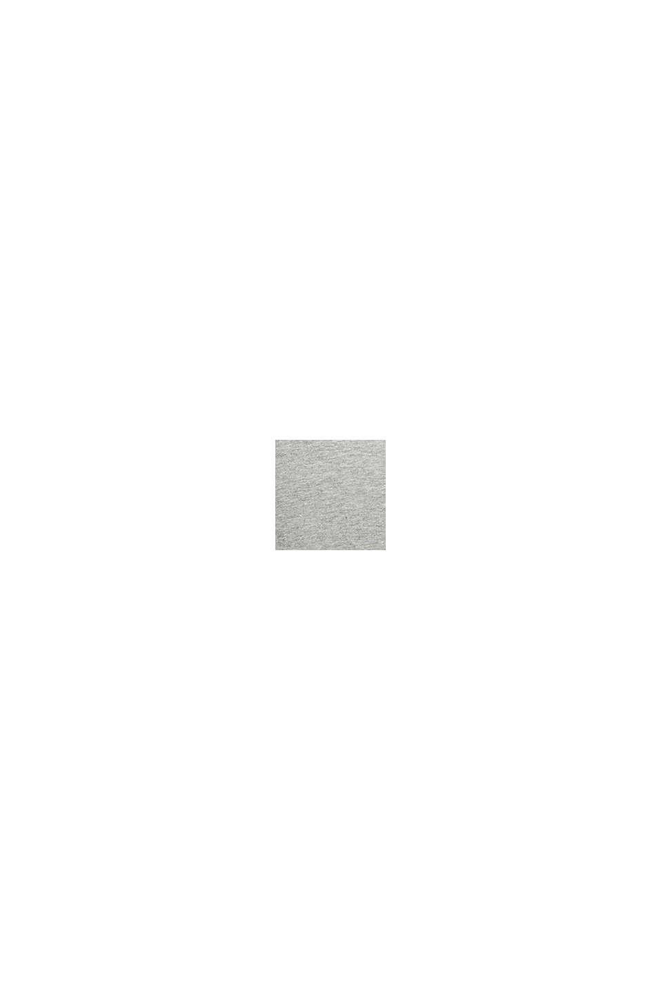 Cardigan molletonné à teneur en coton bio, MEDIUM GREY, swatch