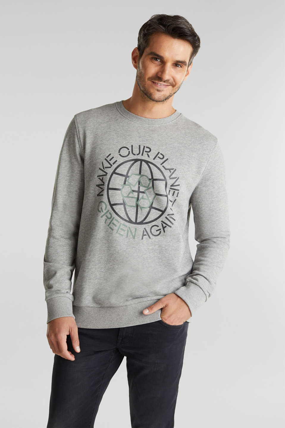 Esprit - Printed sweatshirt with organic cotton