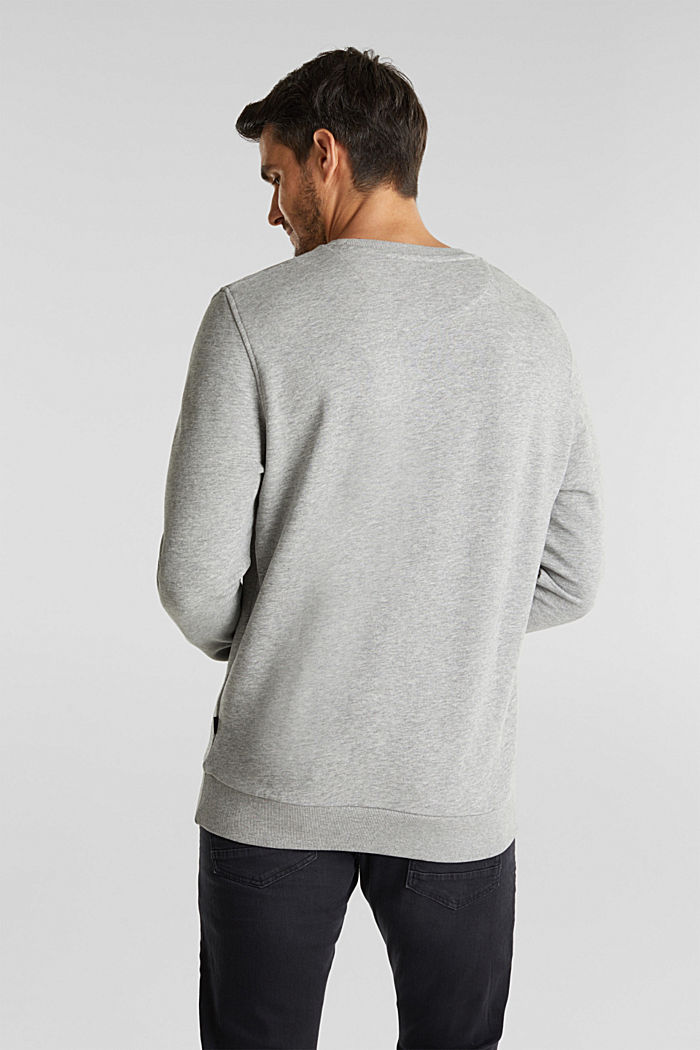 Printed sweatshirt with organic cotton, MEDIUM GREY, detail image number 3