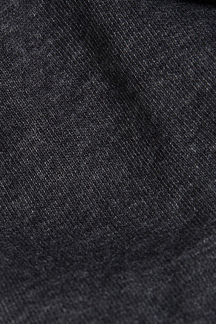 Recycled: sweatshirt cardigan with organic cotton, ANTHRACITE, detail image number 5