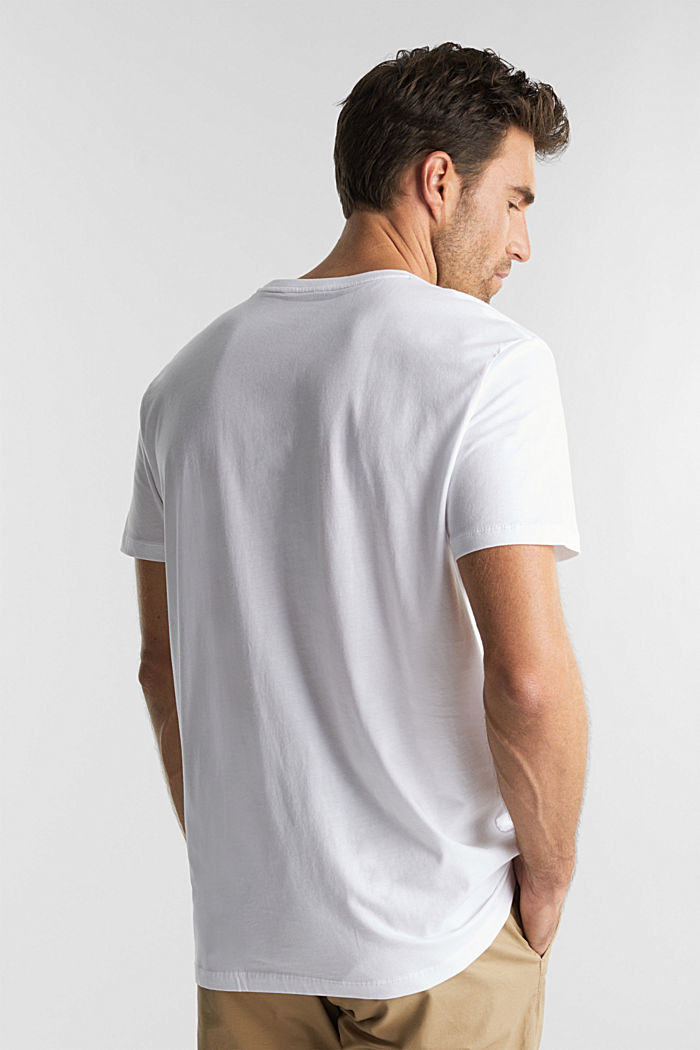 Jersey T-shirt, 100% biologisch katoen, WHITE, detail image number 3