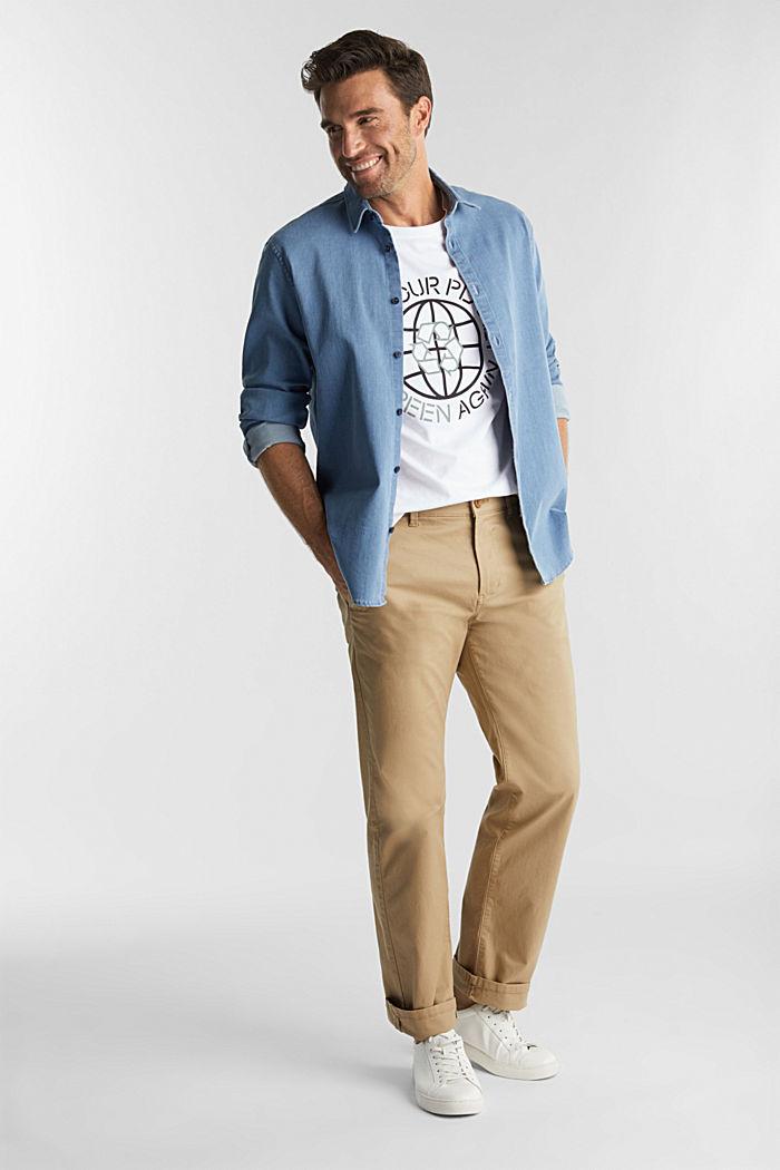 Jersey T-shirt, 100% biologisch katoen, WHITE, detail image number 2