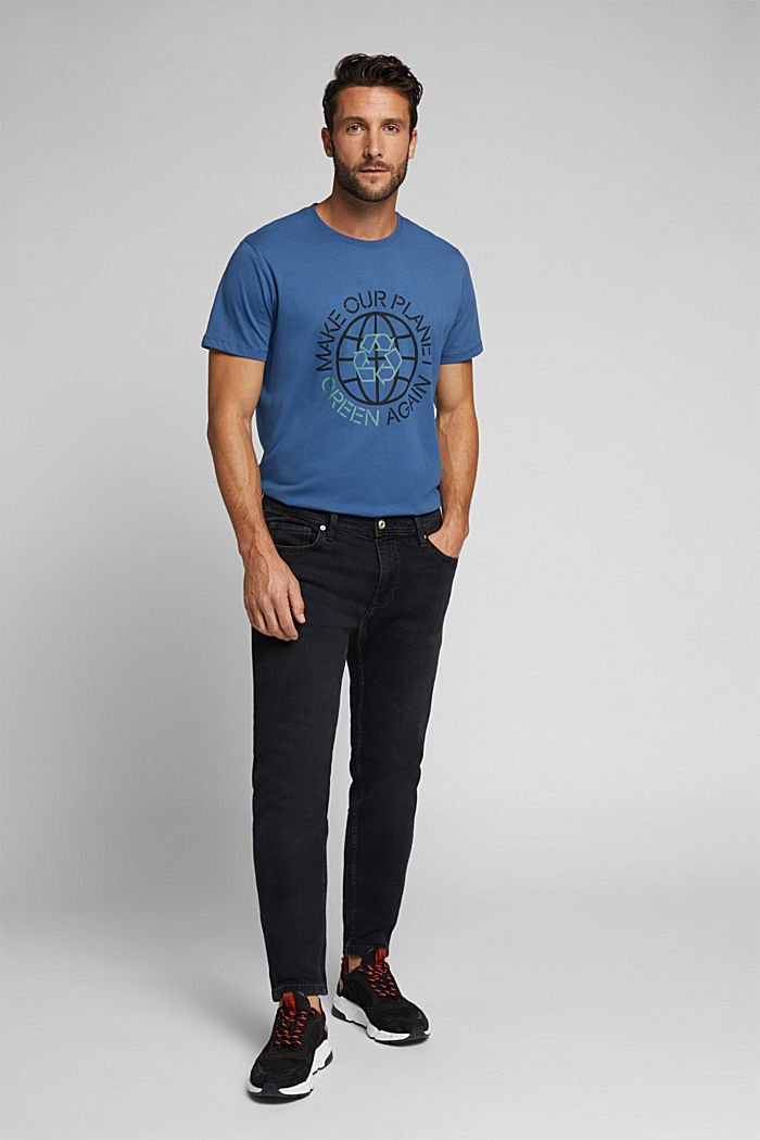 Jersey T-shirt, 100% organic cotton, GREY BLUE, detail image number 2