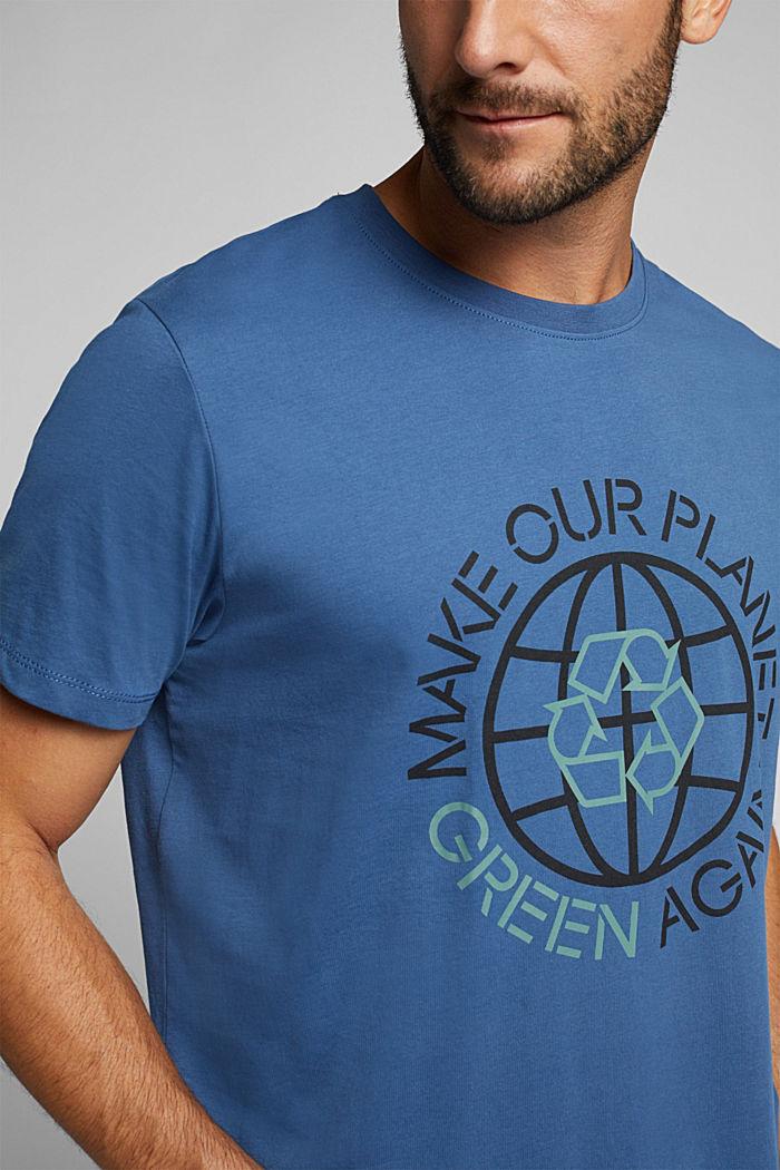 Jersey T-shirt, 100% organic cotton, GREY BLUE, detail image number 1