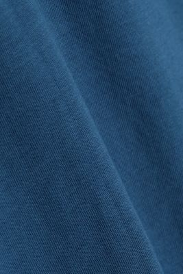 Jersey T-shirt, 100% organic cotton, GREY BLUE, detail
