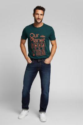 Jersey top made of 100% organic cotton, DARK GREEN, detail
