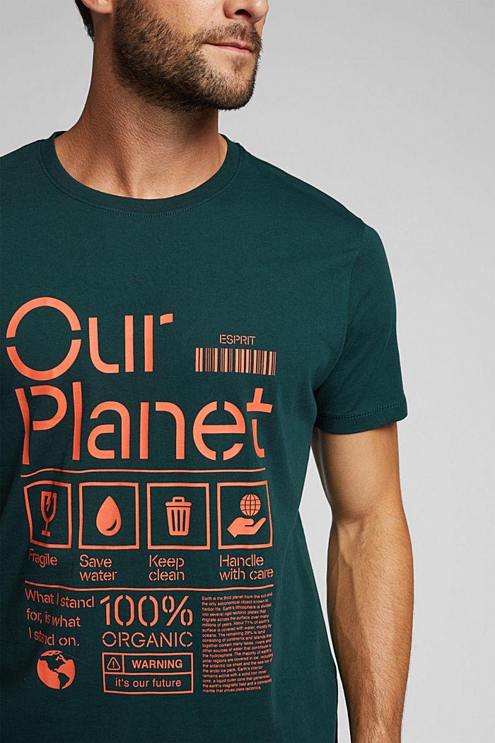 Koszulka z jerseyu w 100% z bawełny organicznej, DARK GREEN, detail image number 1
