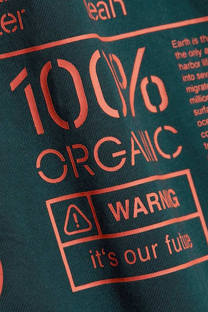 Jersey top made of 100% organic cotton, DARK GREEN, detail image number 4