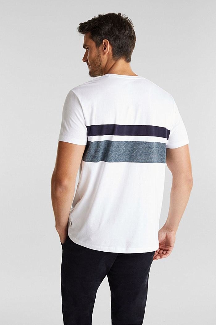 Jersey T-shirt with stripes, 100% organic cotton, WHITE, detail image number 3