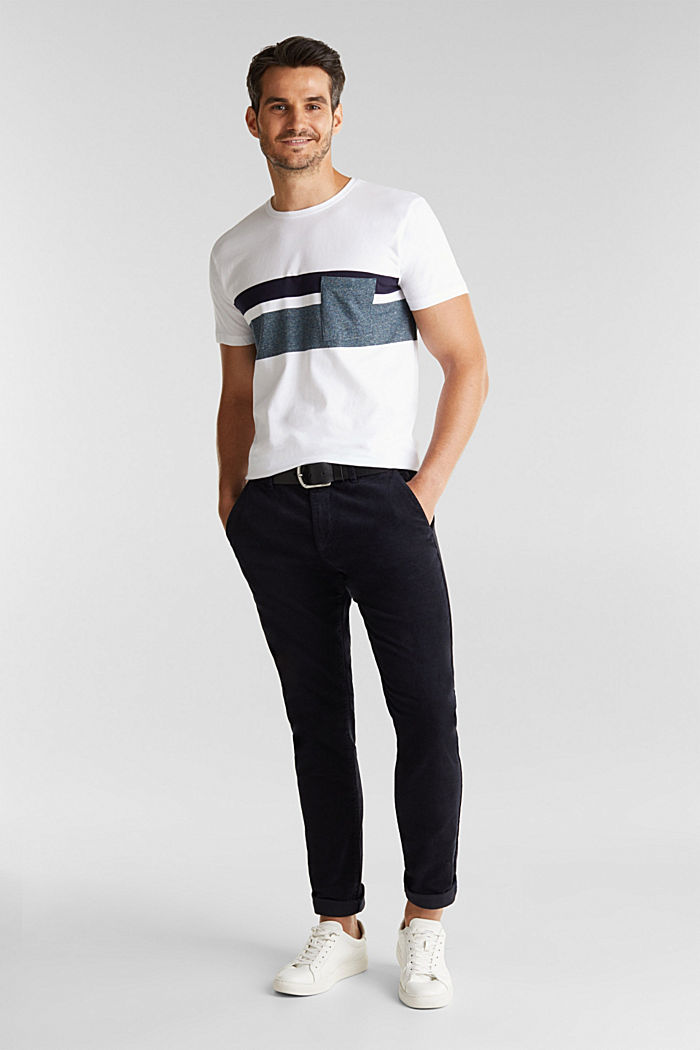 Jersey T-shirt with stripes, 100% organic cotton, WHITE, detail image number 2