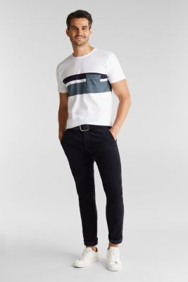 Jersey T-shirt with stripes, 100% organic cotton, WHITE, detail