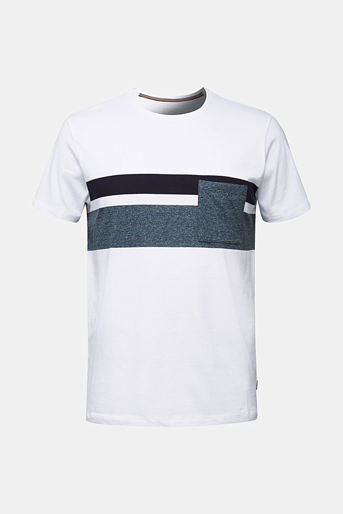 Jersey T-shirt with stripes, 100% organic cotton, WHITE, detail image number 5