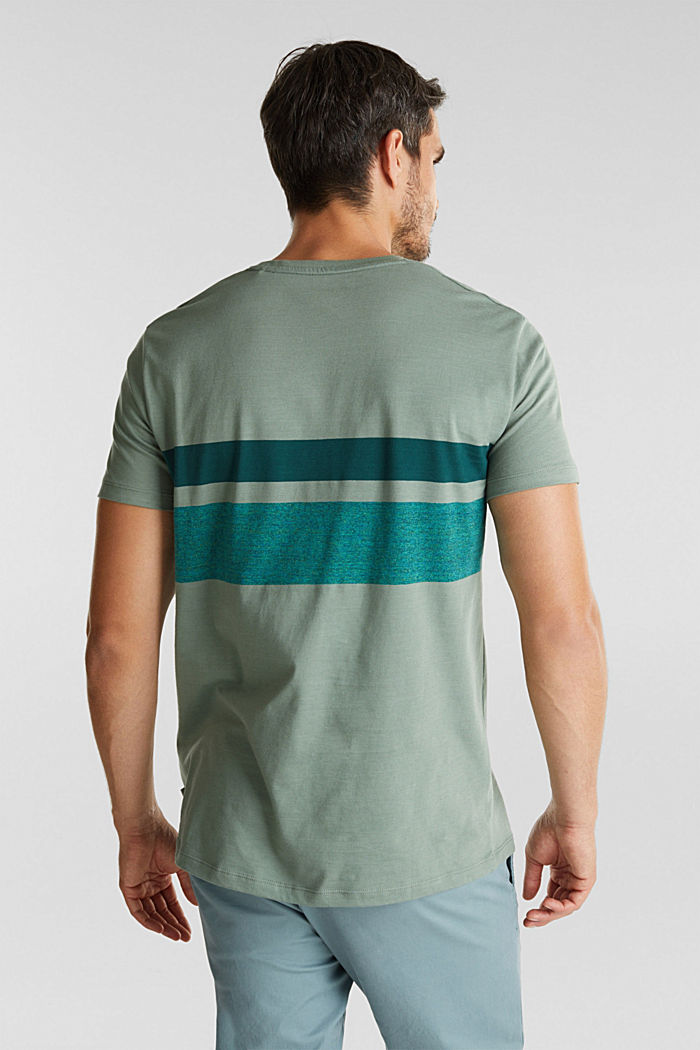 Jersey T-shirt with stripes, 100% organic cotton, LIGHT KHAKI, detail image number 3