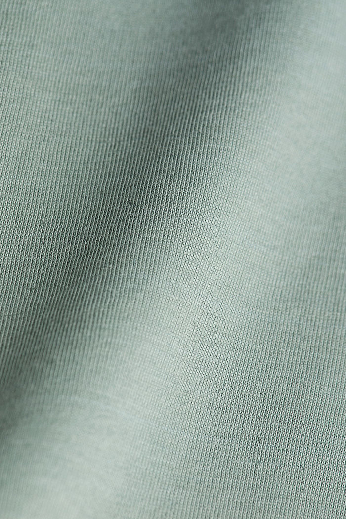Jersey T-shirt with stripes, 100% organic cotton, LIGHT KHAKI, detail image number 4
