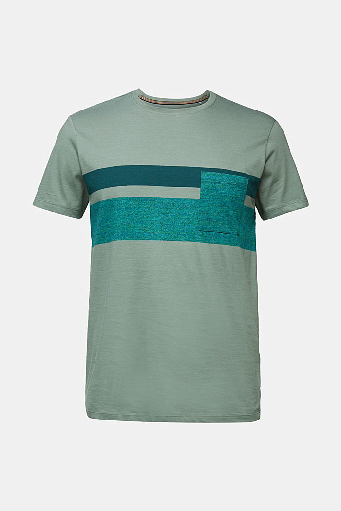 Jersey T-shirt with stripes, 100% organic cotton, LIGHT KHAKI, detail image number 5
