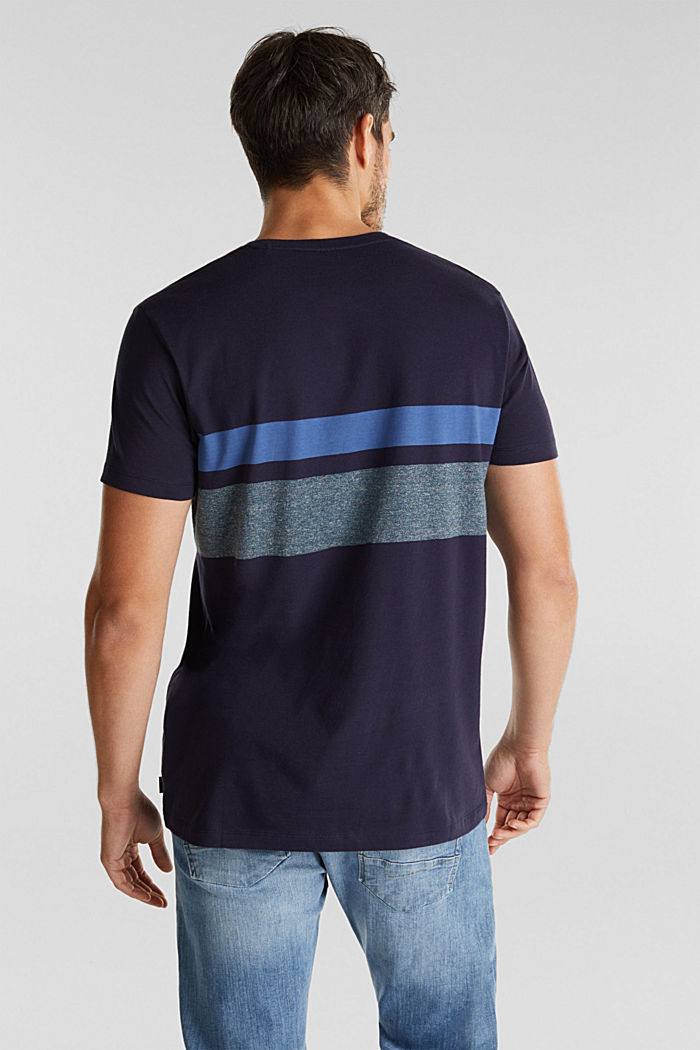 Jersey T-shirt with stripes, 100% organic cotton, NAVY, detail image number 3