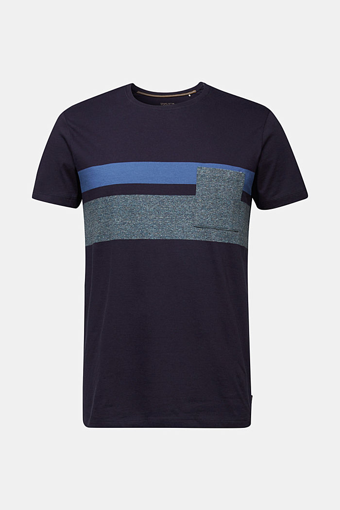 Jersey T-shirt with stripes, 100% organic cotton, NAVY, detail image number 6