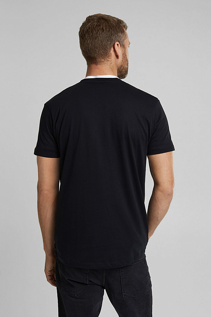 T-shirt with a photo print, 100% organic cotton, BLACK, detail image number 3