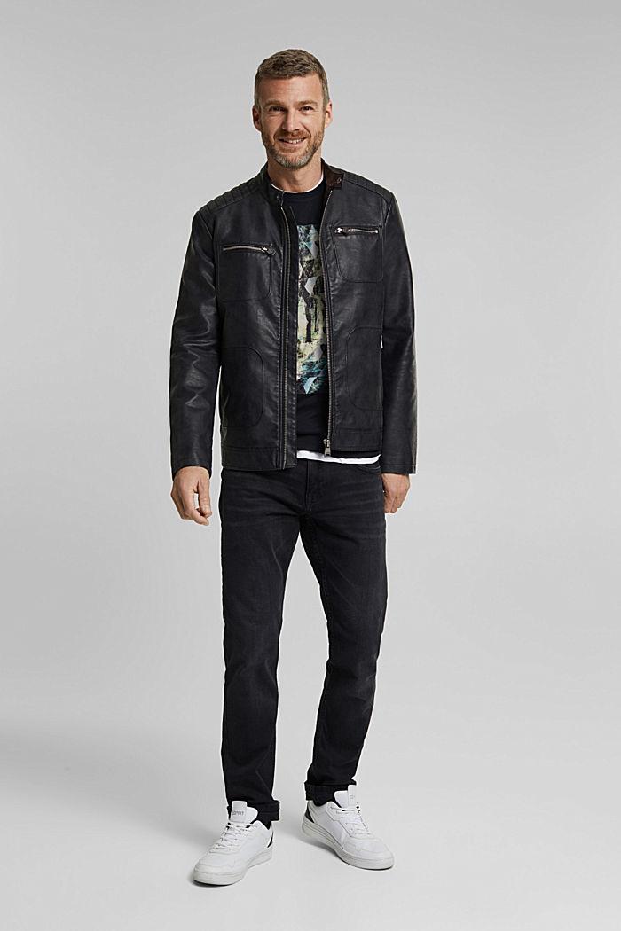 T-Shirt mit Foto-Print, 100% Organic Cotton, BLACK, detail image number 2