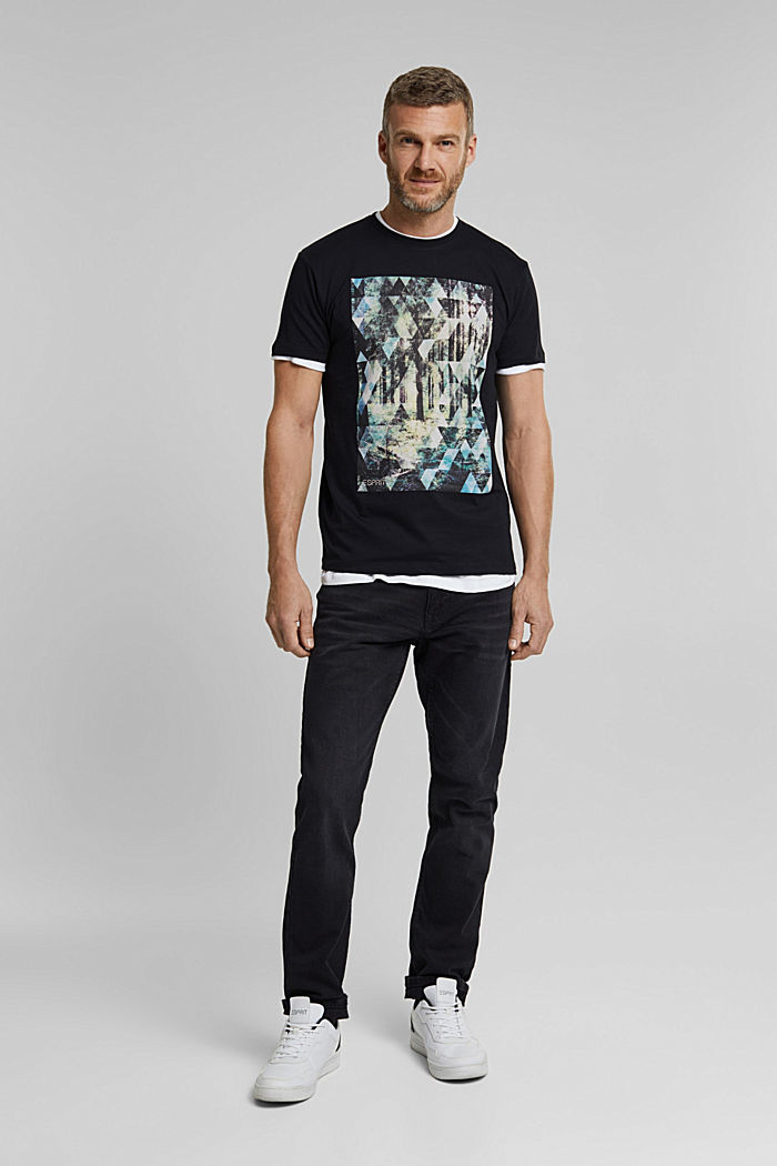 T-shirt with a photo print, 100% organic cotton, BLACK, detail image number 5