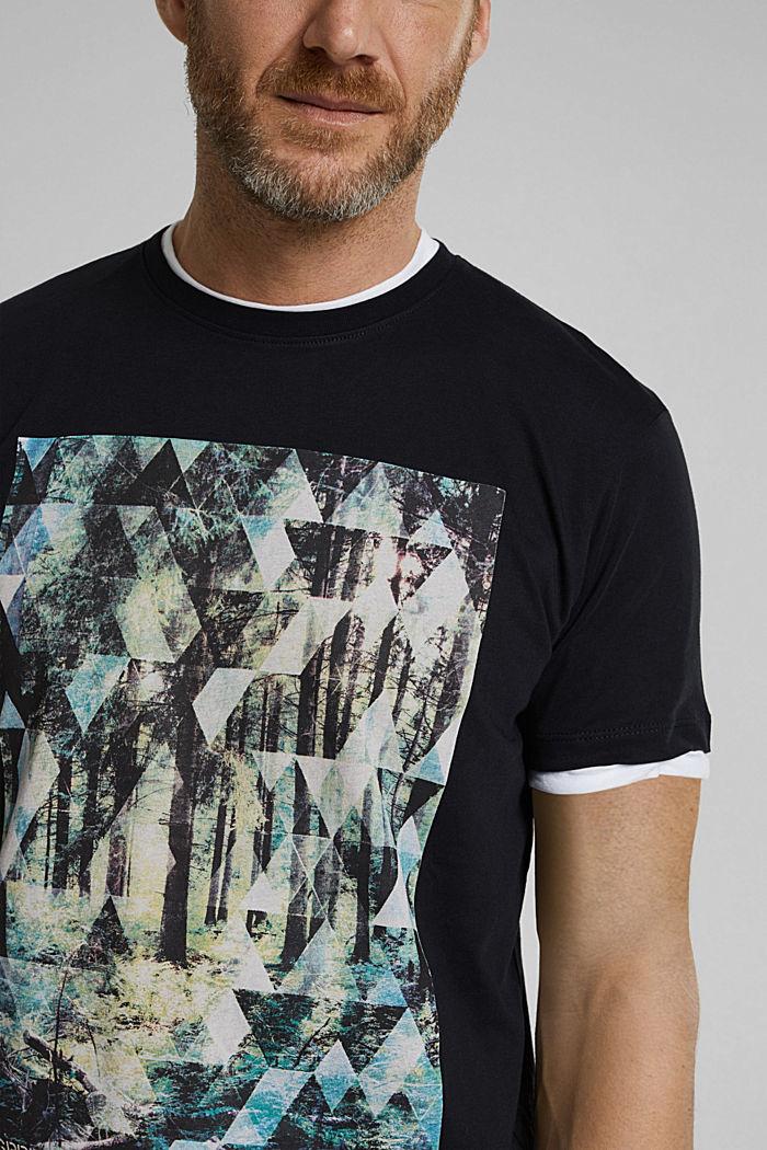 T-Shirt mit Foto-Print, 100% Organic Cotton, BLACK, detail image number 1