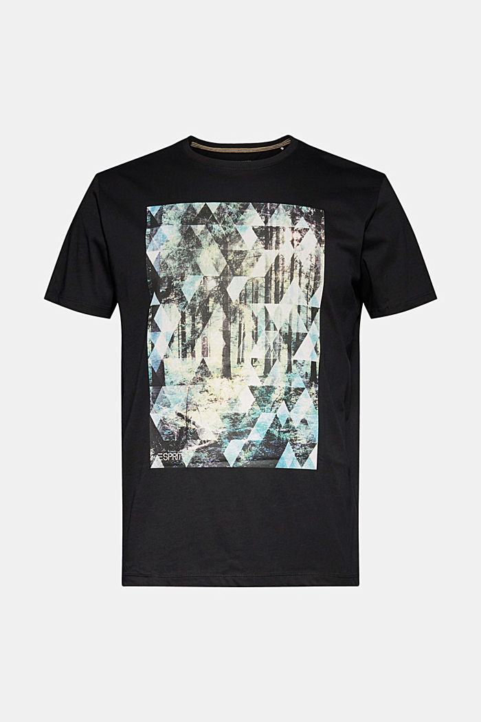 T-shirt with a photo print, 100% organic cotton, BLACK, detail image number 6