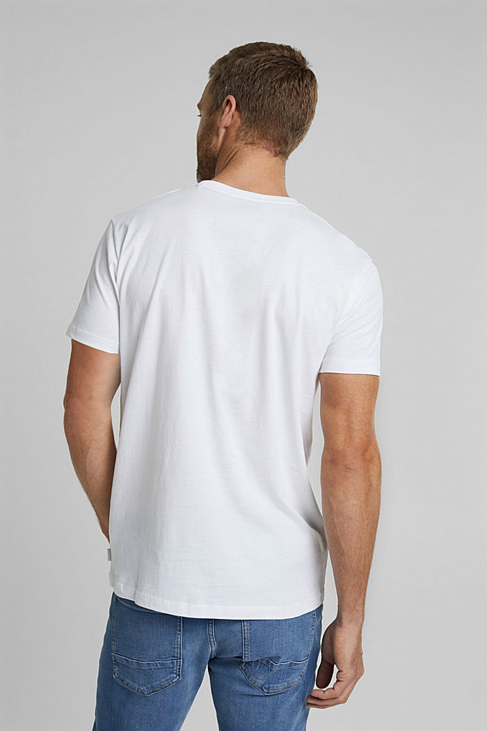 T-shirt with a photo print, 100% organic cotton, WHITE, detail image number 3
