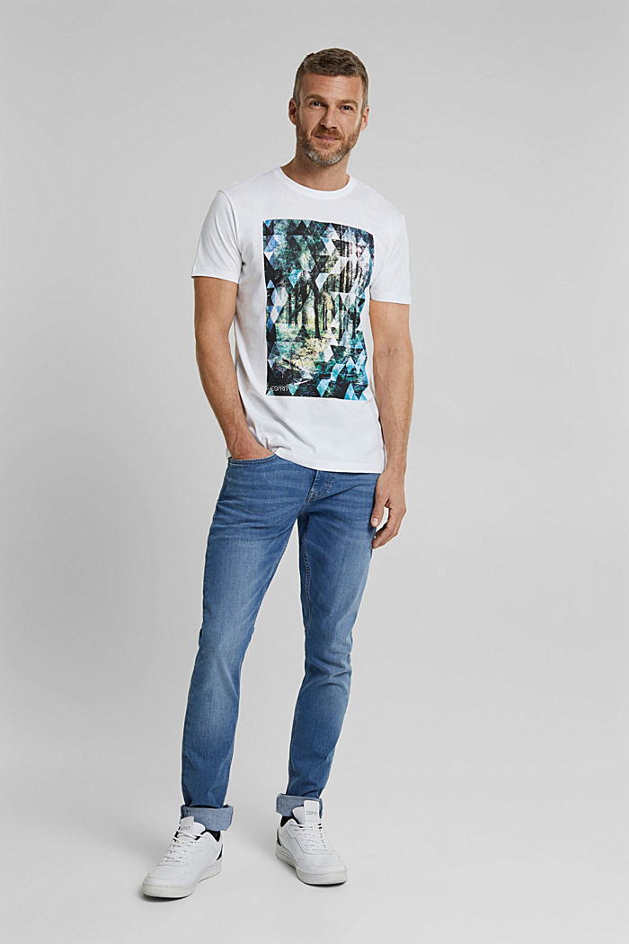 T-shirt with a photo print, 100% organic cotton, WHITE, detail image number 5