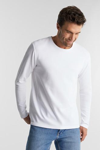 Piqué long sleeve top made of 100% organic cotton