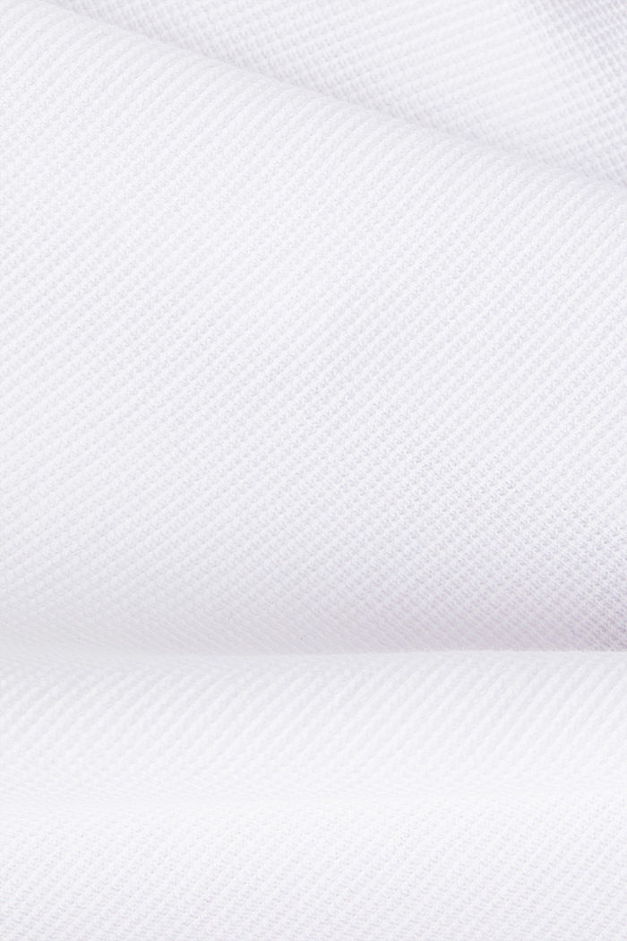 Piqué long sleeve top made of 100% organic cotton, WHITE, detail image number 4