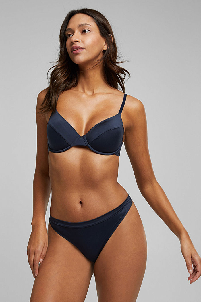 Soft, comfortable unpadded underwire bra, NAVY, detail image number 3