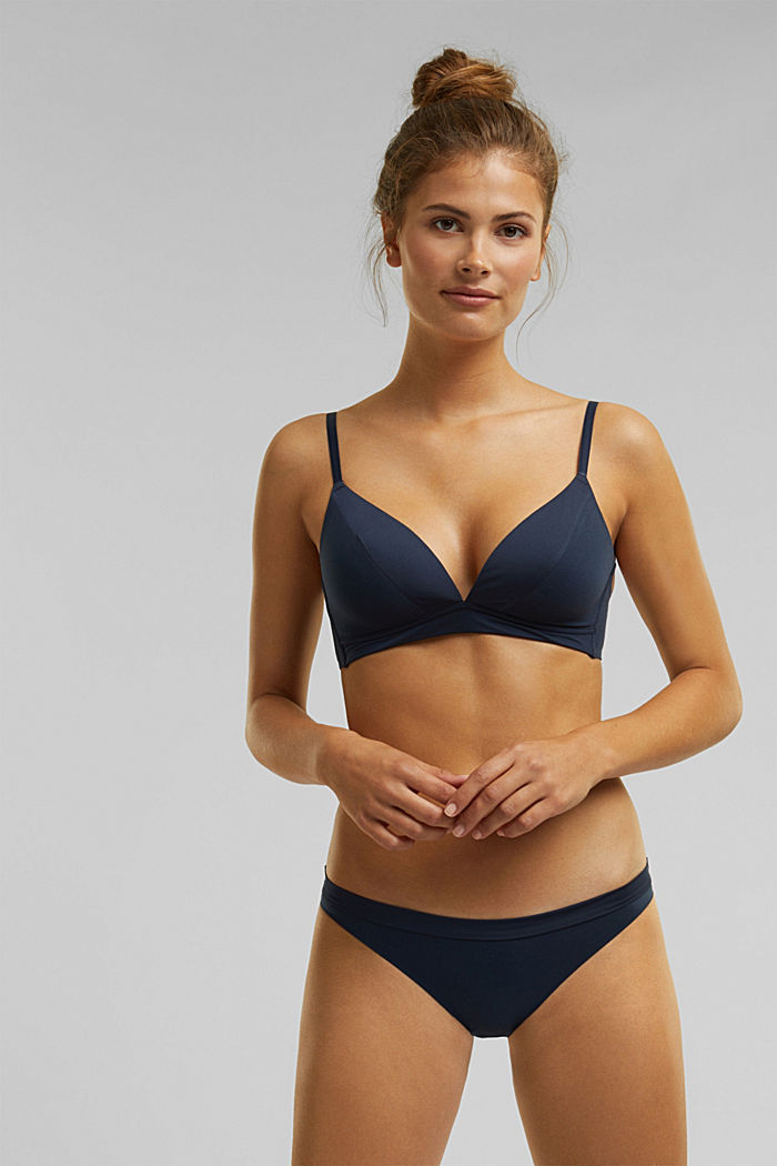 Padded non-wired bra, extremely soft and comfy, NAVY, detail image number 0