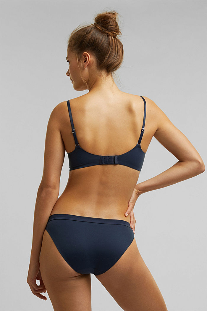Padded non-wired bra, extremely soft and comfy, NAVY, detail image number 1