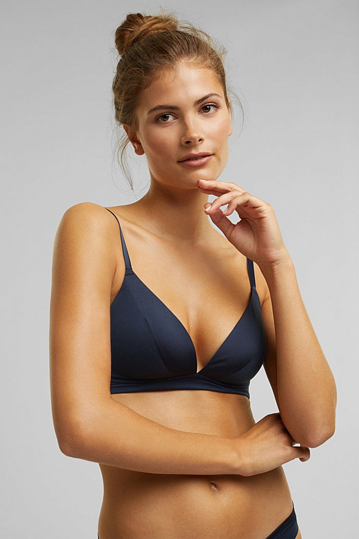 Padded non-wired bra, extremely soft and comfy, NAVY, detail image number 4