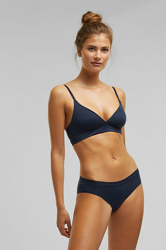 Unpadded, soft and comfortable non-wired bra