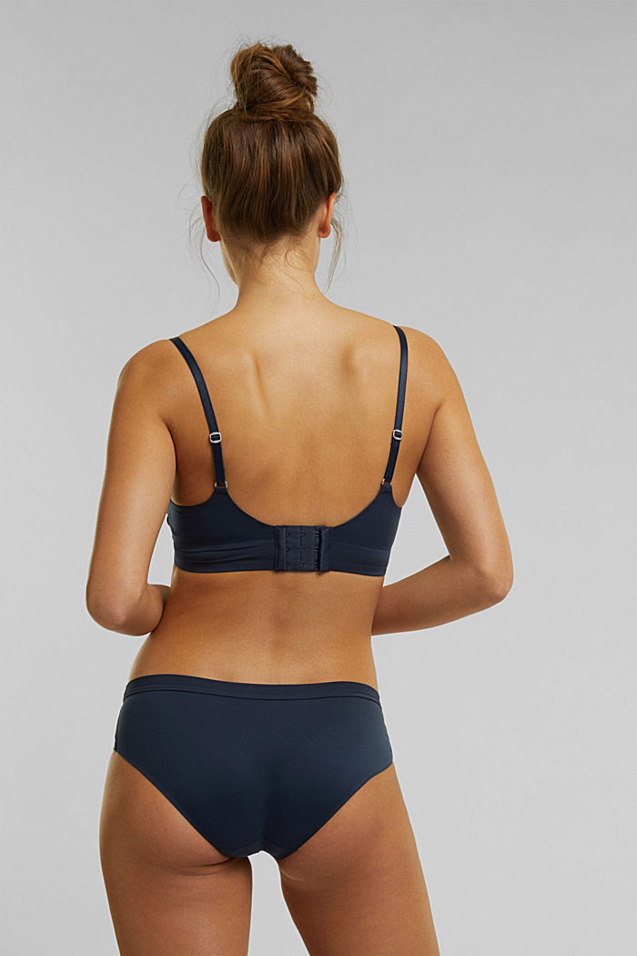 Unpadded, soft and comfortable non-wired bra, NAVY, detail image number 1