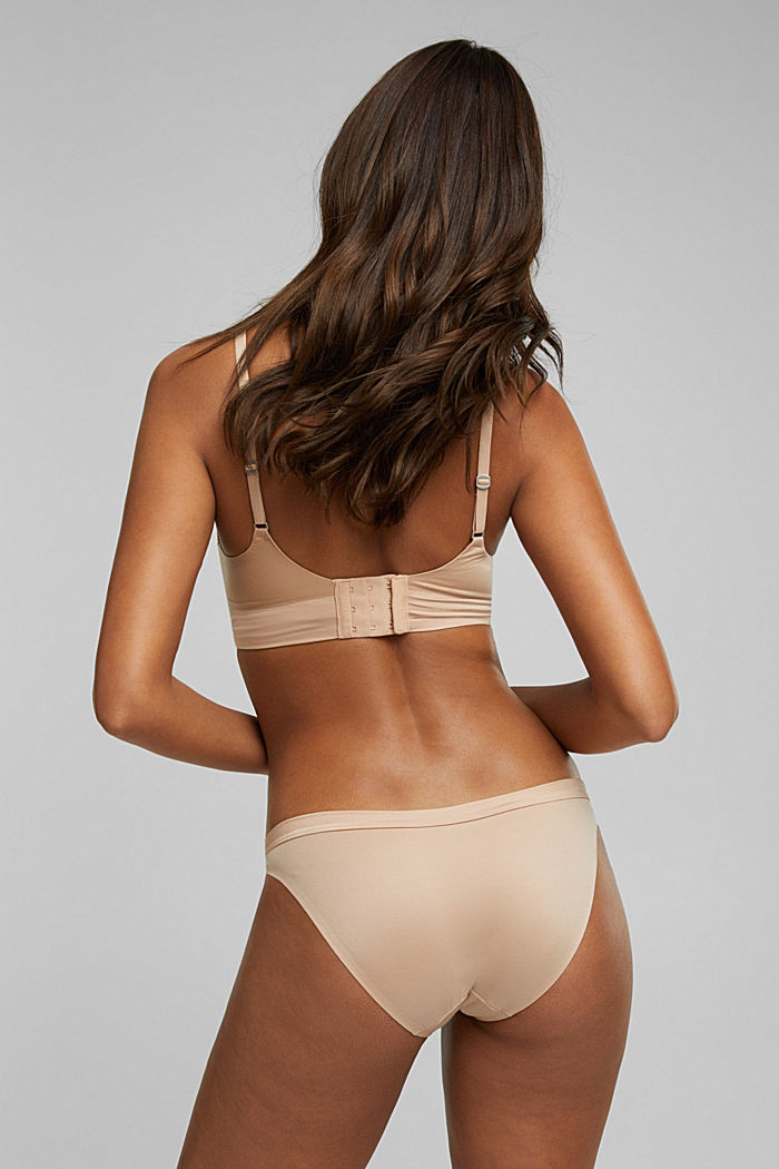 Unpadded, soft and comfortable non-wired bra, NUDE, detail image number 1